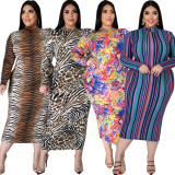 Sexy fashion plus size women's slim dress SMR10603