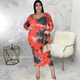 Sexy fashion plus size women's slim dress SMR10605
