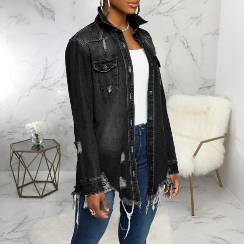 Sexy fashionable women's denim jacket SMR9642