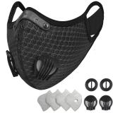 Reusable Dust Face Mask with Filters (Black)