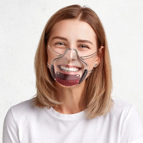 (🔥Buy 3+ Free Shipping & Free Filter🔥)Clear Smart Silicone Reusable Mask 2.0
