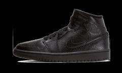 Air Jordan 1 Mid Black Snakeskin