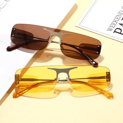 Rimless Vintage Sun glasses Small Tinted Designer Sunglasses
