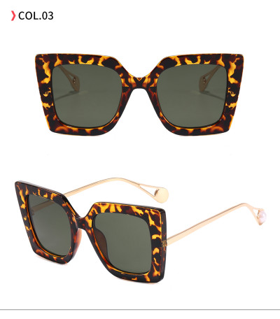 Lady Sun glasses UV400 Square Oversize Women Shades Sunglasses