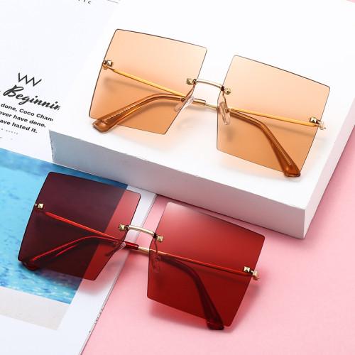 High Quality Square Sunglasses Women Brand Designer Retro oversized Geometric shades