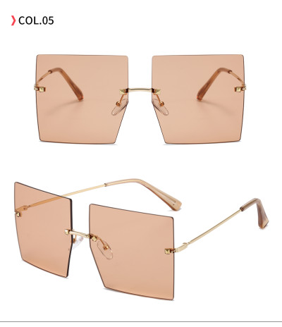 High Quality Square Sunglasses Women Brand Designer Retro oversized Geometric shades