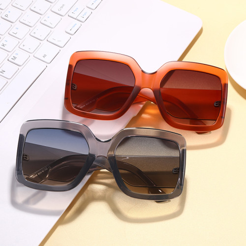 Big Frame Sun glasses Wide Temple Solid Square Oversized Shades Sunglasses