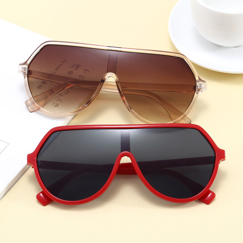 Plastic One Piece Lens Sun glasses UV400 Oversized Shades Sunglasses