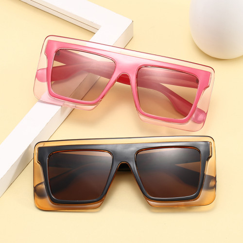 Big Wide Frame Sun glasses Men Women Oversized Flat Top Shades Sunglasses