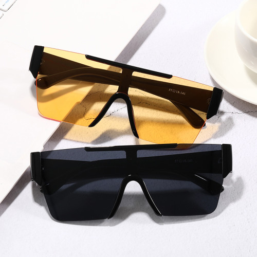 Plastic Custom Logo Sun glasses Men Women Mirrored Mono Lens Shield Sunglasses