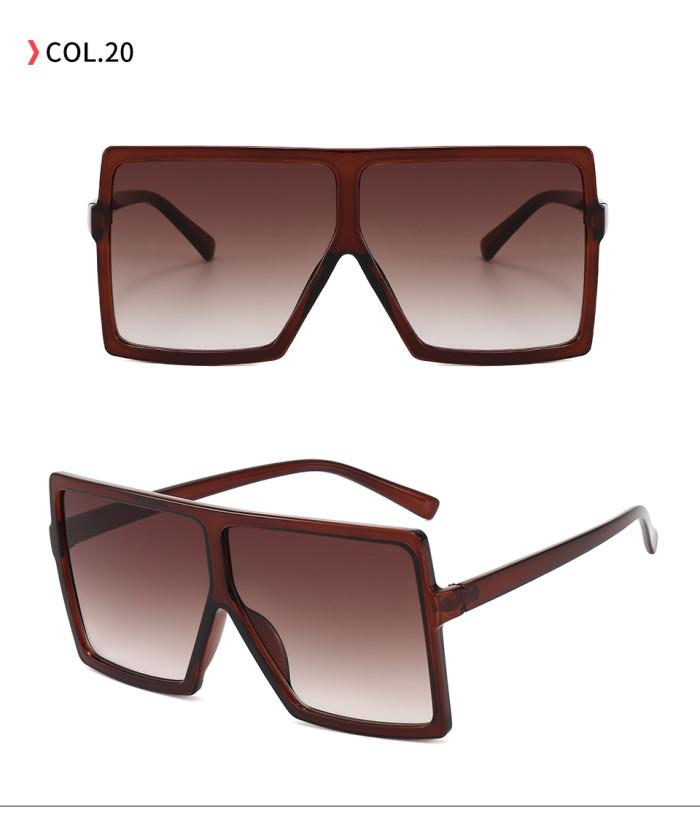 oversize square sunglasses Brown