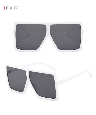 oversize square sunglasses White