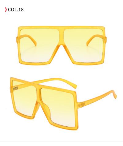 oversize square sunglasses Yellow