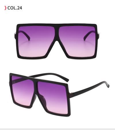oversize square sunglasses Black Gradient Purple