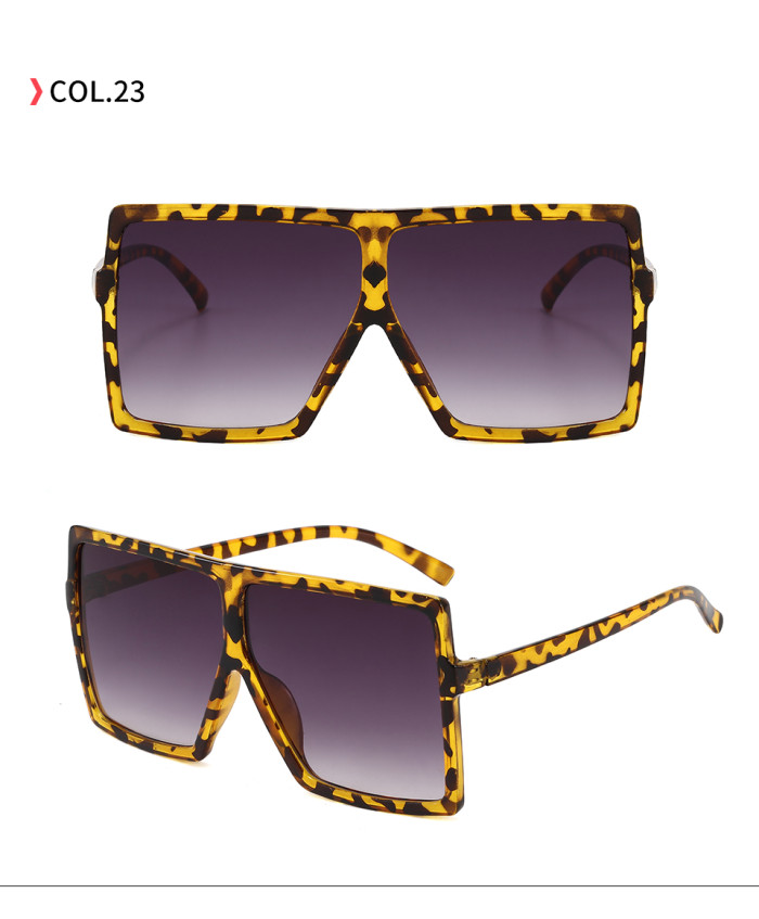 oversize square sunglasses Leopard Gradient Grey