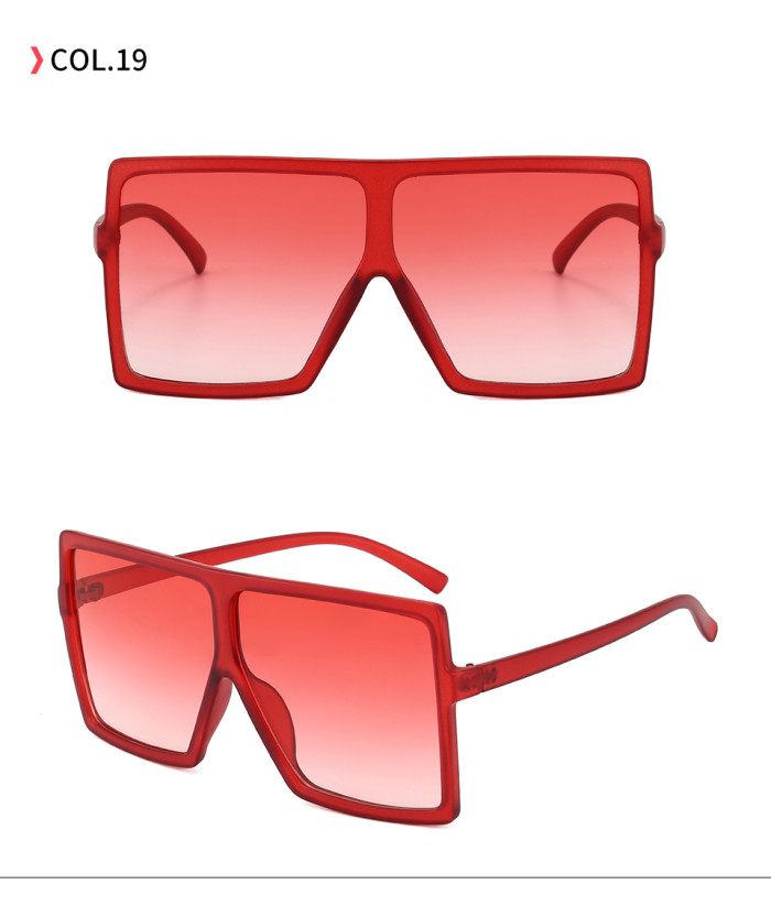 oversize square sunglasses Gradient Yellow