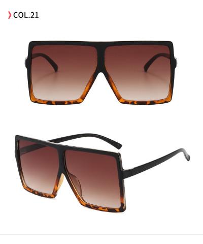 oversize square sunglasses Black Leopard Gradient Brown