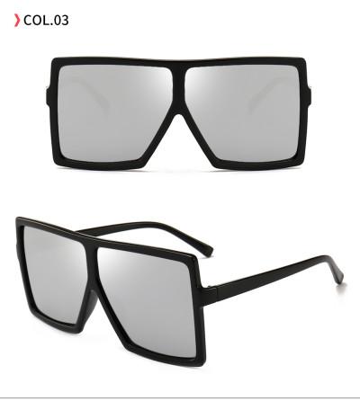 oversize square sunglasses Black/Silver