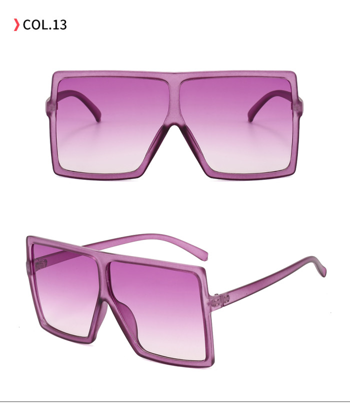 oversize square sunglasses Gradient Purple