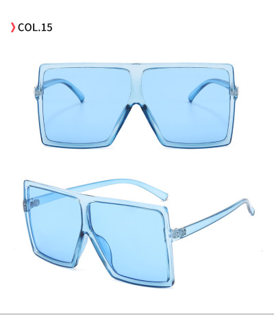 oversize square sunglasses Clear Blue