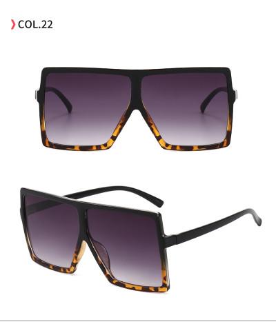 oversize square sunglasses Black Leopard Gradient Black