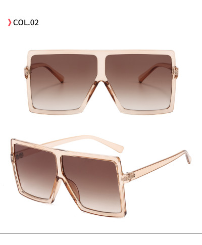 oversize square sunglasses - Light Brown