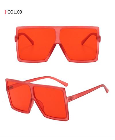 oversize square sunglasses Red