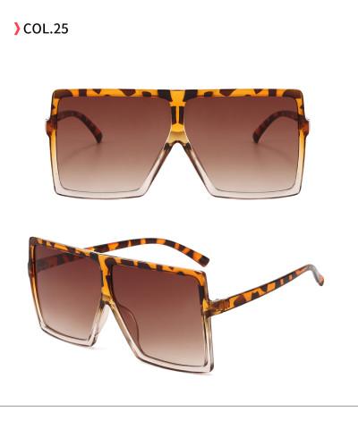 oversize square sunglasses Leopard Brown