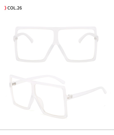 oversize square sunglasses Clear