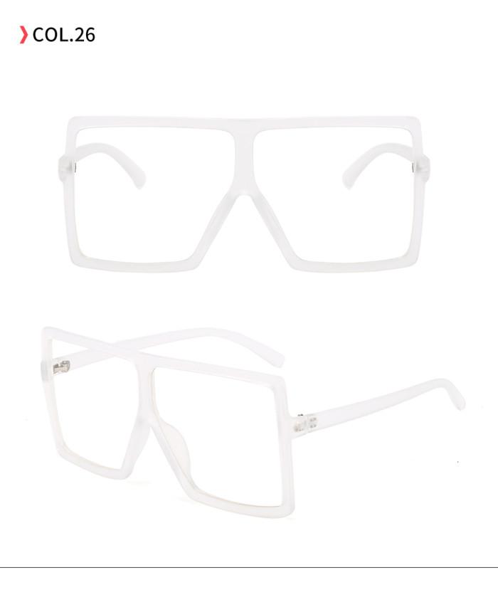 oversize square sunglasses Clear