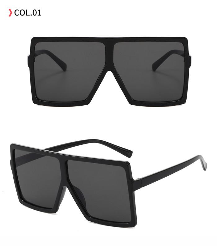 oversize square sunglasses - Shiny Black