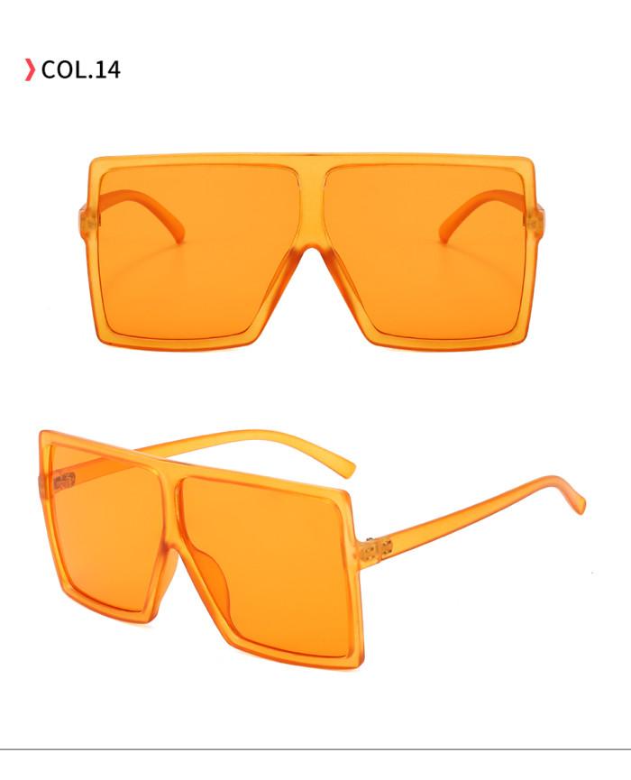 oversize square sunglasses Orange