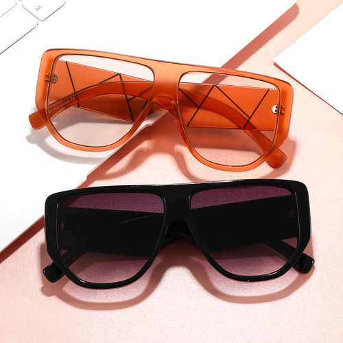 Oversized Sun glasses Trendy Wide Temple Women Shades Sunglasses