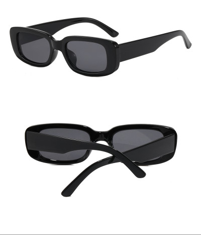 Retro Vintage Sun glasses Cheap Plastic Small Rectangular Sunglasses