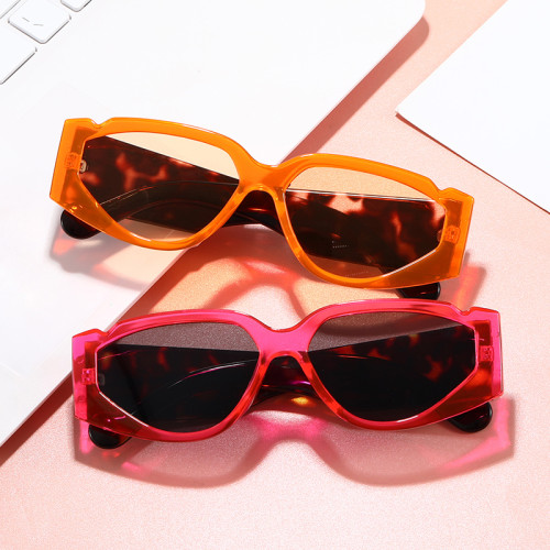 Plastic Retro Vintage Wide Rectangular Sunglasses