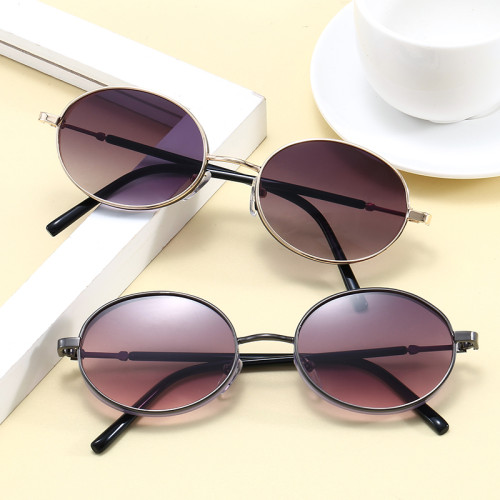 Retro Vintage Sun glasses Men Women Steampunk Style Small Oval Sunglasses