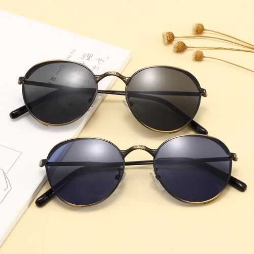 Retro Vintage Sun glasses Elegant Oval Metal Steampunk Sunglasses