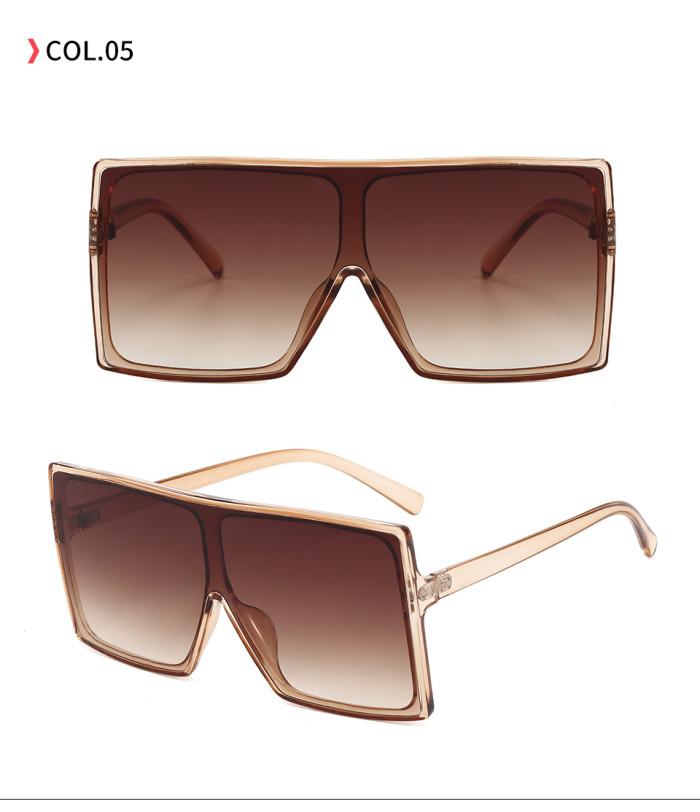 Big Frame Flat Top Square Oversized Shades Sunglasses