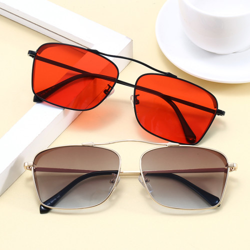 Retro Vintage UV400 Men's Square Metal Steampunk Sunglasses