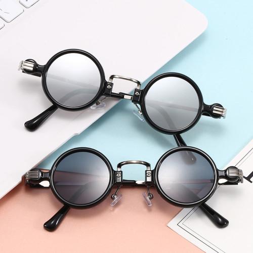 Retro Vintage Steampunk Style Men Women Small Round Sunglasses