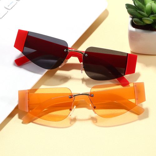 2020 Sun glasses Half Frame Tinted Women Sunglasses