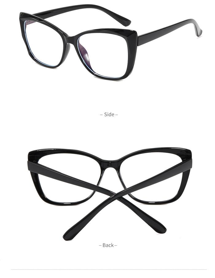 Women Cat Eye Blue Light Blocking Glasses Spring Hinges Lady Office Computer Eyeglasses