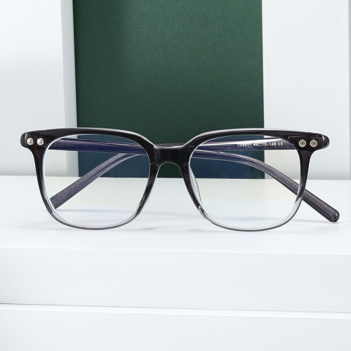 Classic Eyeglasses TR90 Rectangle Optical Frames with Anti Blue Light Lenses