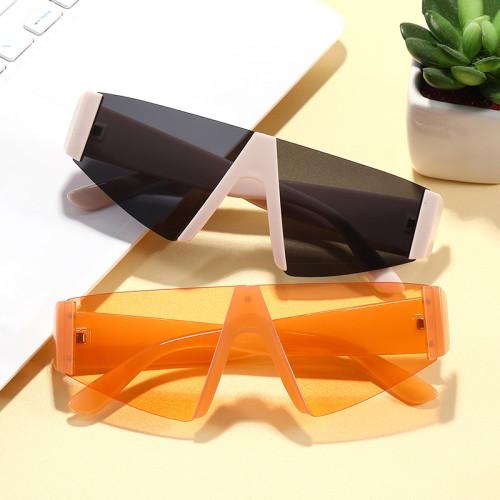 Trendy Sun glasses 2020 Tinted Half Frame Rimless Women Sunglasses