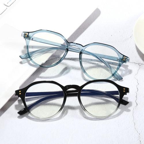 Retro TR90 Optical Frame with Anti Blue Light Lenses Round Vintage Glasses
