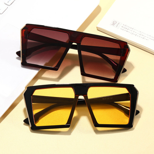 Black Shades Sun glasses Flat Top Men Women UV400 Sunglasses