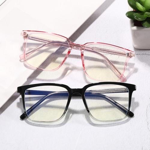 Blue Light Blocking Glasses TR90 Square Nerd Eyeglasses Frame Anti Blue Ray Computer Game Glasses
