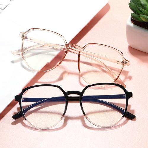 TR90 Round Retro Vintage Eyeglasses Blue Light Blocking Glasses