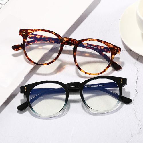 Retro Vintage TR90 Round Optical Frames Cheap Blue Light Blocking Computer Glasses