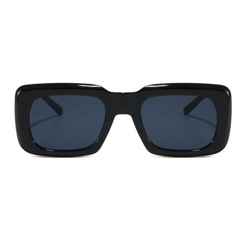 Retro Vintage 90s Sun glasses Cheap Solid Thick Rectangle Men Women Fashion Trendy Sunglasses